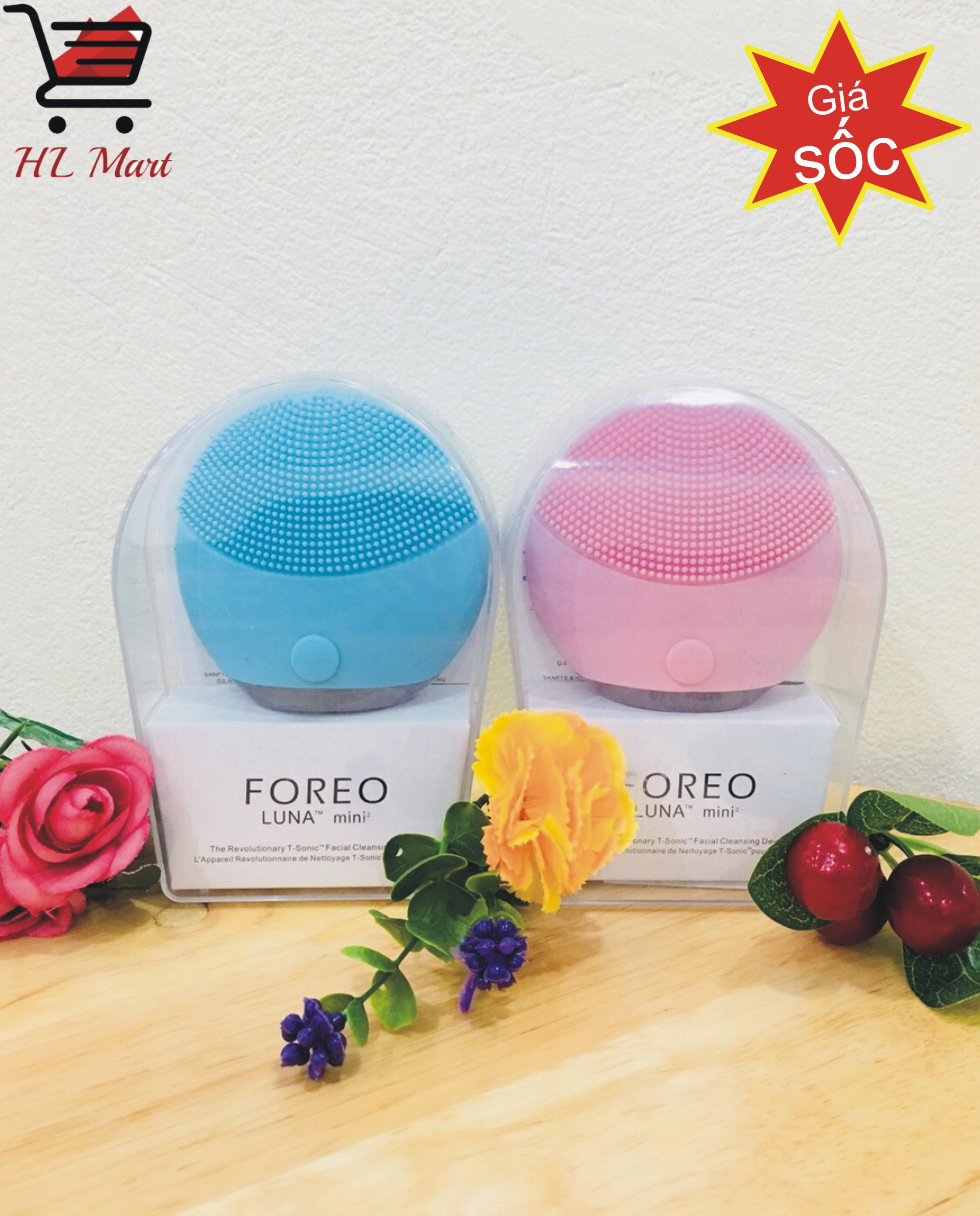 Máy rửa mặt FOREO LUNA MINI 2, máy rửa mặt làm sạch sâu. máy rửa mặt dành cho mọi loại da, máy rửa mặt tự động thông minh