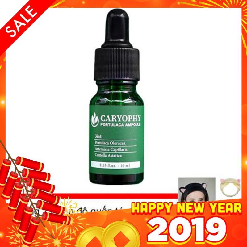 Tinh chất trị mụn và làm mờ thâm Caryophy Portucala Ampoule 10ml + Tặng 1 Băng đô rửa mặt xinh xắn