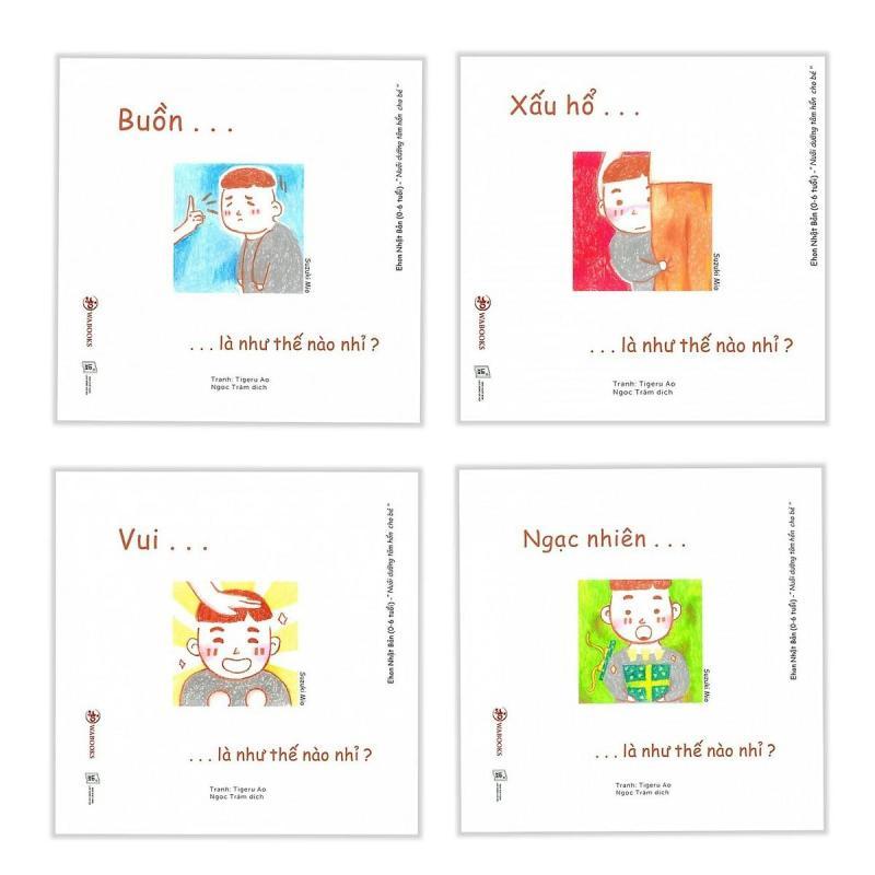 Mua Combo 4 quyển Ehon cảm xúc ( Ehon Nhật Bản cho bé  0 - 6 tuổi )