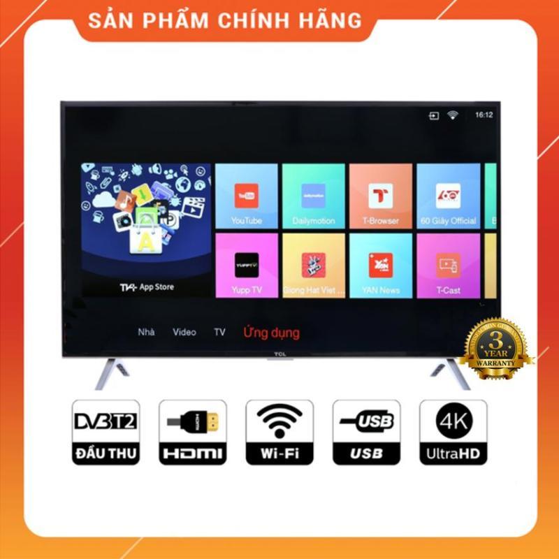 Bảng giá Smart Tivi TCL 50 inch Ultra HD 4K - Model L50P62 (Đen) Tích hợp DVB-T2, Wifi