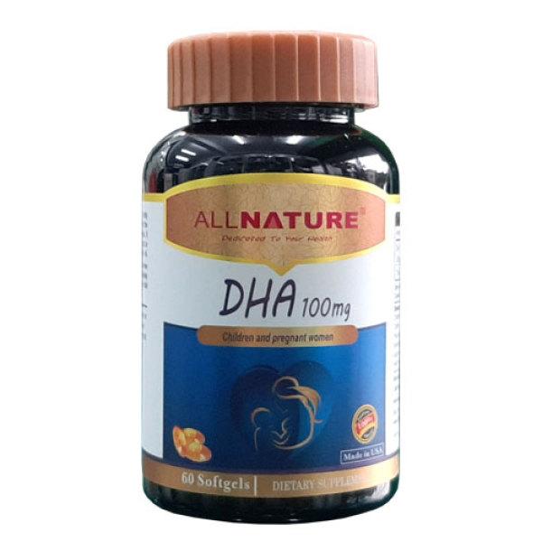 DHA 100mg Albert Max – Bổ sung DHA cho mẹ bầu và trẻ em, giúp phát triển trí não thai nhi (lọ 60 viên) cao cấp