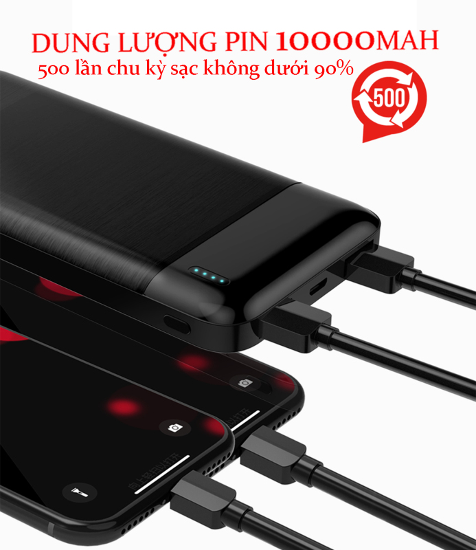 Giá SẠC DỰ PHÒNG SIÊU MỎNG POWER BANK J349 10000mAh/ 2 Cổng ra USB, 2 cổng vô Micro, Type-C - dòng điện ra 2.1A - SỬ DỤNG ĐƯỢC CHO ANDROID & IOS BẢO HÀNH 12 THÁNG - GALVIN DINH