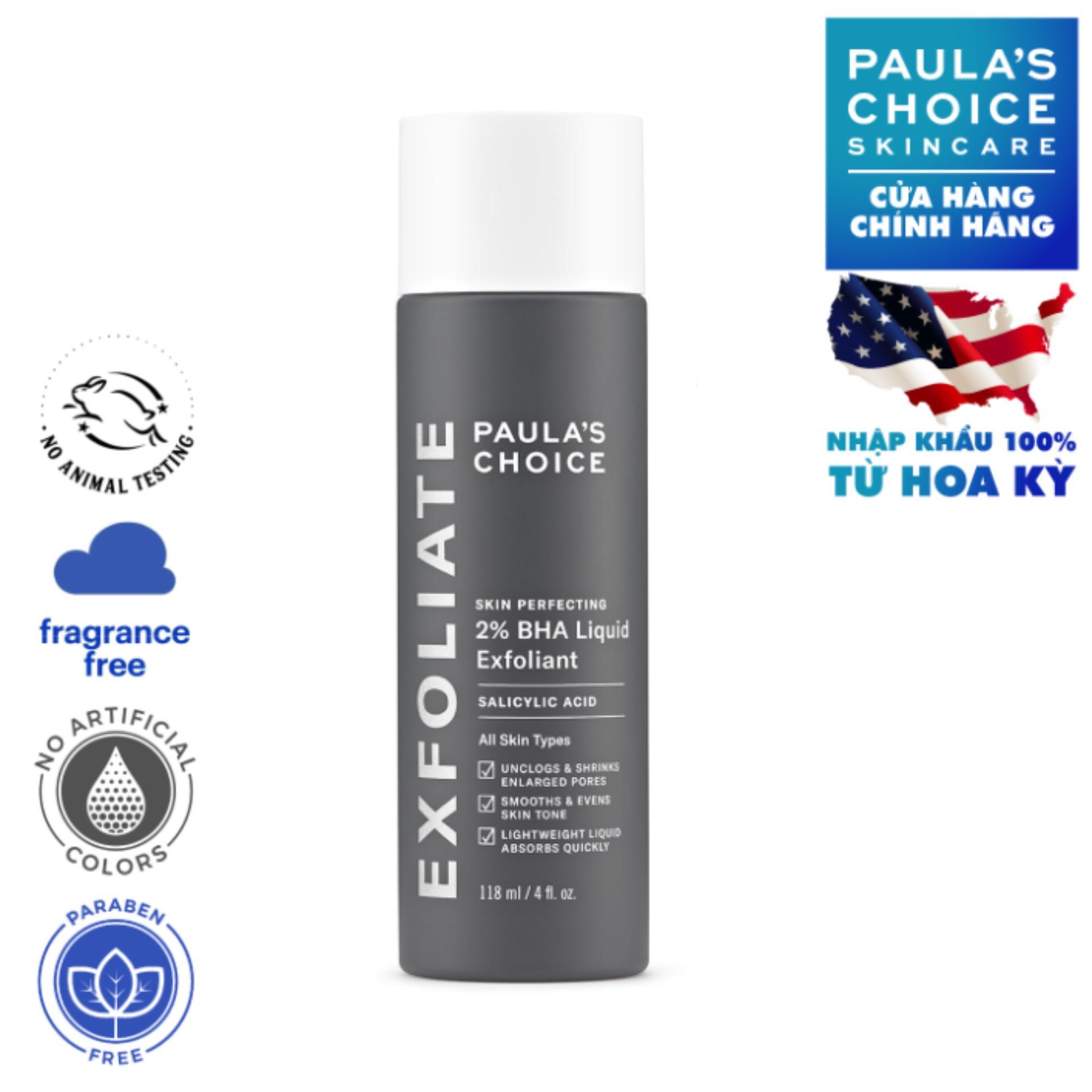Dung dịch loại bỏ tế bào chết Paula's Choice Skin Perfecting 2% BHA Liquid Exfoliant 118 ml chính hãng