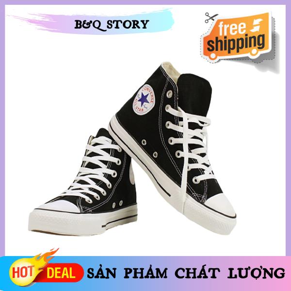 [Full box + ẢNH THẬT] Giày Converse Chuck Taylor All Star, Giày Sneaker Cổ cao Nam Nữ, Giày cổ cao màu đen, Converse Nam, Converse Nữ