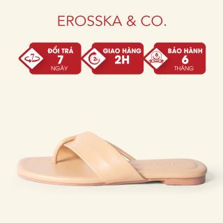 Dép đi biển thời trang Erosska 2021 phối dây cách điệu trẻ trung màu nude DE034 thumbnail