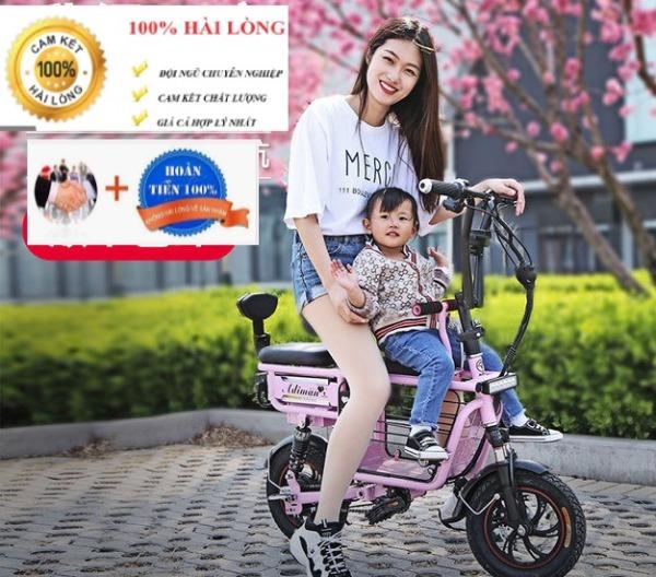 Mua xe đạp điện cho học sinh - Xe điện có 3 ghế có giỏ Adiman giỏ to đi 100k / lần sạc xe đạp điện mini xe đạp điện mini - xe đạp điện- xe điện - xe máy điện - xe điện người lớn -  xe điện gấp gọn