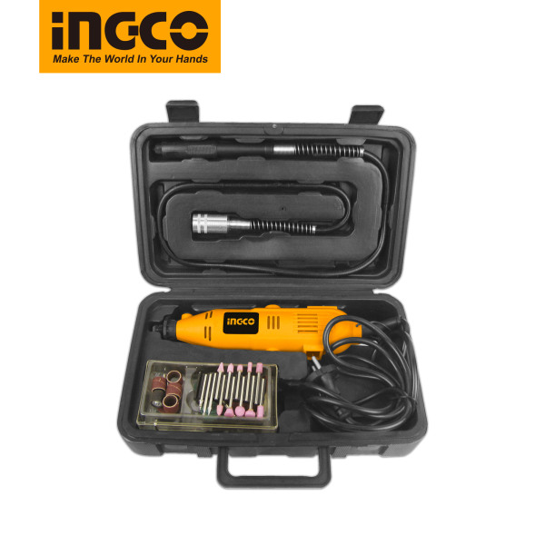 Bộ công cụ máy mài điện mini hiệu NGCO có thể điều chỉnh 7 tốc độ, Bộ máy mài để chạm khắc gỗ ngọc bích, đục kim loại, Mài đánh bóng với 52 cái phụ kiện đi kèm với máy MG1309