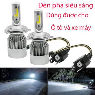 (SALE 50%) Đèn pha 3 chân, Đèn pha siêu sáng Xe Máy , Đèn Led Pha Cos Cho ô tô, Xe Máy - bóng đèn LED siêu sáng C6-H4 36W lắp cho Ôtô Xe máy chính hãng giá tốt thumbnail