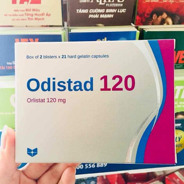 Viên uống giảm cân Odistad Stada 120mg (Mẫu mới Orlistat) giảm cân an toàn hiệu quả hỗ trợ điều trị béo phì 42 viên nhập khẩu