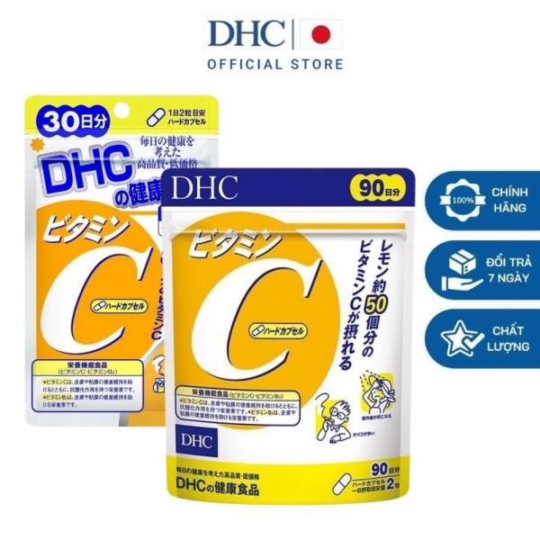 DHC Viên uống bổ sung Vitamin C tăng sức đề kháng thực phẩm chức năng 30 ngày và 90 ngày  Nhật Bản cao cấp