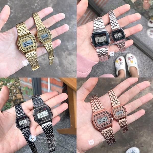 Nơi bán Đồng hồ nam, nữ Casio A159 WR unisex dây thép kiểu dáng thể thao cho tuổi teen-Gozid.watches