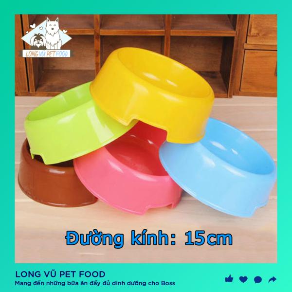 Bát ăn chó mèo - Bát tròn đơn Chất liệu nhựa / chén ăn chó / bát ăn mèo / bát ăn thú cưng / bát nhựa đơn cho chó / bát cho mèo và chó / bát thú cưng