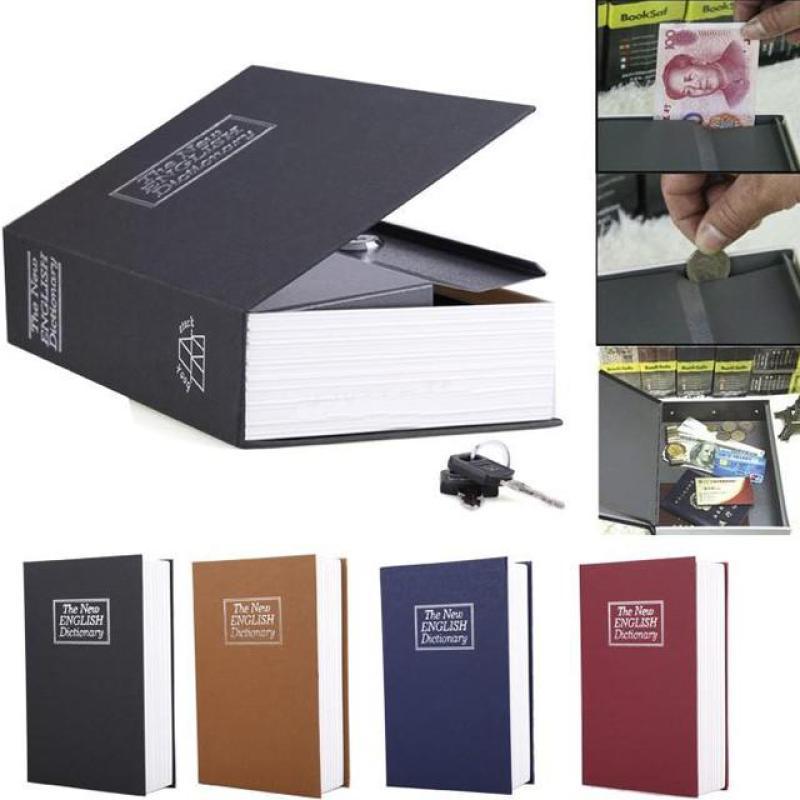 [HÀNG MỚI VỀ] Két Sắt Mini Hình Quyển Sách Cao Cấp, Thiết kế nhỏ gọn, màu sắc hài hòa bên trong có 1 ngăn nhỏ Hệ thống khóa an toàn dễ sử dụng, cho thủ quỹ, thu ngân, bảo vệ.