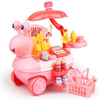 Bộ đồ chơi xe kem 27 món kèm xe kem hình ốc sên vui vẻ bằng nhựa nguyên sinh ABS an toàn cho bé yêu BBShine DC022 thumbnail