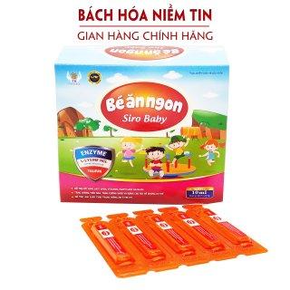 Bé Ăn Ngon Siro Baby- Bổ sung axit amin, enzym, vitamin giúp bé ăn ngon miệng, giảm biếng ăn, tiêu hóa khỏe - Hộp 20 ống 10ml thumbnail