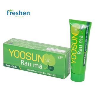 Kem bôi da ngăn ngừa mụn, giảm thâm Yoosun Rau Má (tube-25g) (xanh) thumbnail