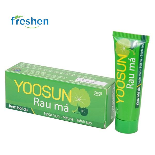 Kem bôi da ngăn ngừa mụn, giảm thâm Yoosun Rau Má (tube-25g) (xanh) giá rẻ