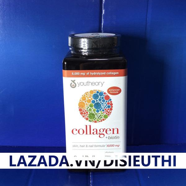 Viên Uống Chống Lão Hóa Da Collagen Youtheory Type 123 Hộp 390 viên ngăn ngừa nếp nhăn hình thành, nâng cao giúp làm chắc khỏe móng, tóc, gân, xương khớp và cơ