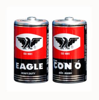 Pin Con Ó (EAGLE) R20P Vỏ Sắt Tây Đỏ - 1 hộp 12 viên thumbnail