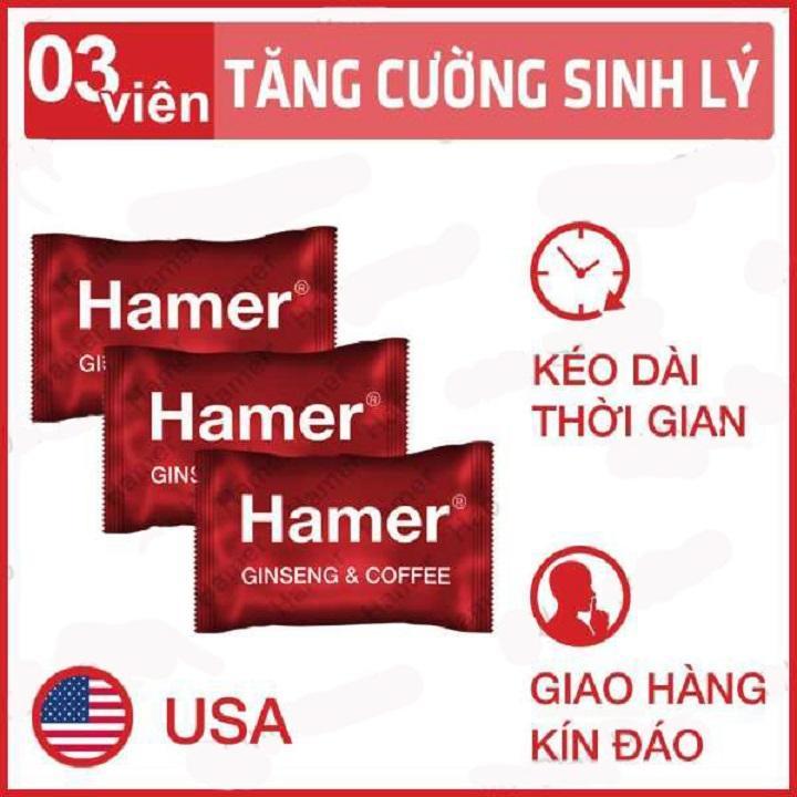 Bộ 3 Kẹo Sâm Hamer Tăng cường Sinh lý Kéo Dài Thời Gian Quan Hệi - Nhập khẩu từ USA nhập khẩu