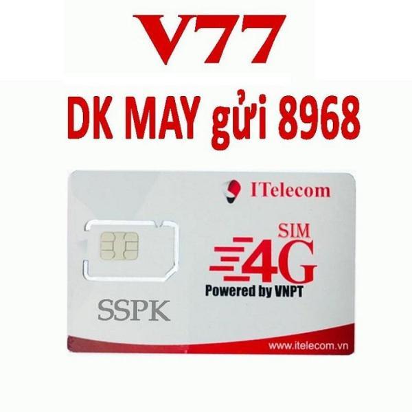SIM 4G THẦN TÀI Itelecom V77  90GB TỐC ĐỘ CAO - TỶ PHÚT GỌI