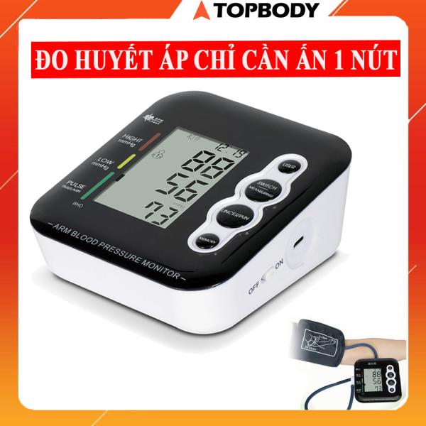 Máy đo huyết áp điện tử bắp tay - máy đo huyết áp thông minh tự động chính xác chỉ với 1 nút bấm- Tiêu chuẩn WHO -  LSK-MDHAP01-DE nhập khẩu