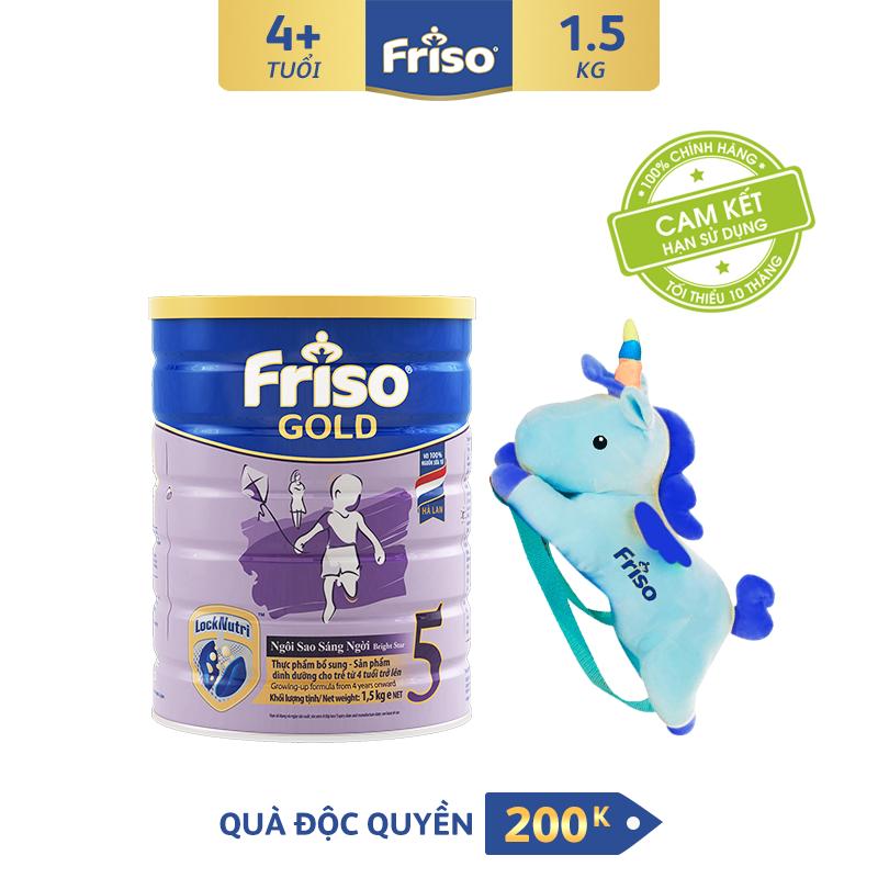 Mã Tiết Kiệm Để Mua Sắm Sữa Bột Friso Gold 5 1.5 Kg Cho Trẻ Từ 2-4 Tuổi + Tặng Balo Kì Lân Xịn Xò Trị Giá 200K