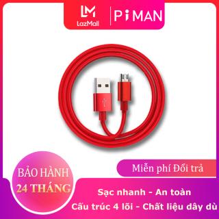 Piman Dây sạc iphone samsung đầu Lightning, type c, Micro sạc nhanh cho tất cả các dòng điện thoại có hỗ trợ - DCS01 thumbnail