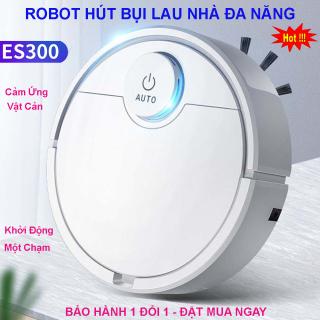 Robot Hút Bụi Lau Nhà Thông Minh, Robot Tự Động Lau Nhà ES300, Robot Hút Bụi Lau Nhà. Tự Động Phát Hiện Khi Gặp Các Vật Cản , Dễ Dàng Làm Sạch Các Vị Trí Khó Như Gầm Giường, Tủ, Ghế Sofa . Giá Cực Sốc, Hãy Mua Ngay thumbnail