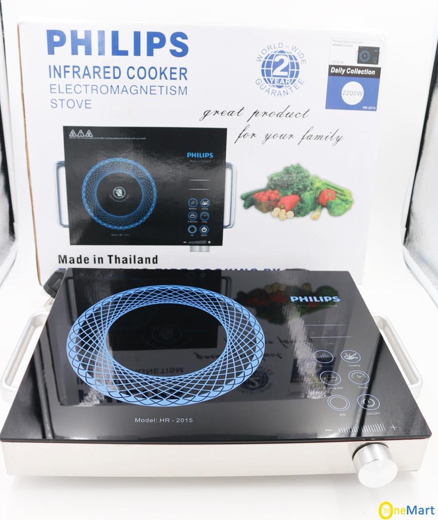 Bếp Hồng Ngoại 2 Vòng Nhiệt Philip - HR2015 (ĐEN) Made In Thái Lan Siêu Ưu Đãi tại Lazada