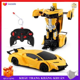 Đồ chơi Xe Ôtô lamborghini điều khiển từ xa tự động biến hình robot, đồ chơi hiện đại cho bé, BẢO HÀNH 2 NĂM thumbnail