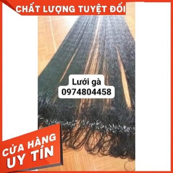 Lưới dù thái bẫy gà rừng hiệu quả nhất dài 50m Cao 2-2,5m Nhuộm màu đen tàng hình, đi viền dù ,bấm chì,thắt chống xô đầy đủ,mắt 12 phân