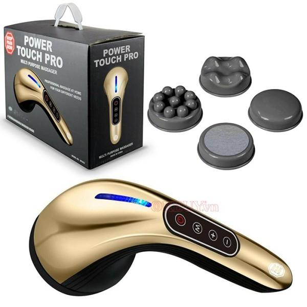 Máy Massage Đa Năng, Máy massage cầm tay pin sạc cao cấp 4 đầu Power Touch Pro SP0422 cao cấp