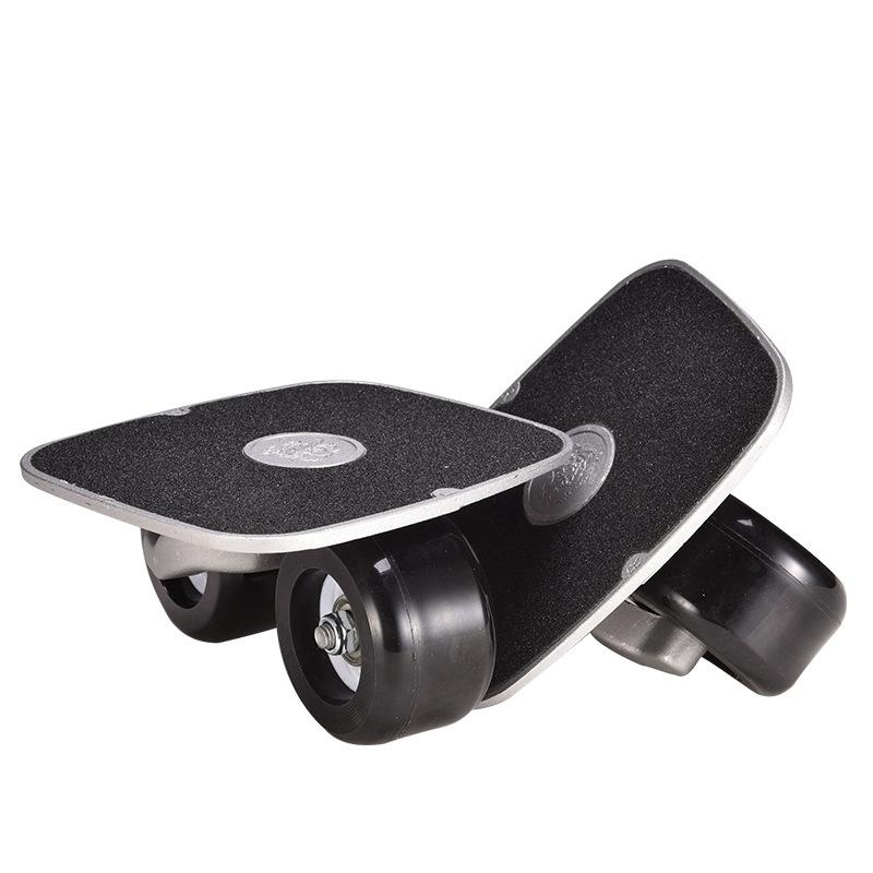 Bảng giá Portable Anti-Vibration Drift Board Aluminum Alloy Party Skateboard with PU Wheel Fitness Drift Board