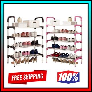 Kệ để giày dép 5 tầng thanh Inox tiện dụng, bền đẹp - Giao Màu Ngẫu Nhiên thumbnail