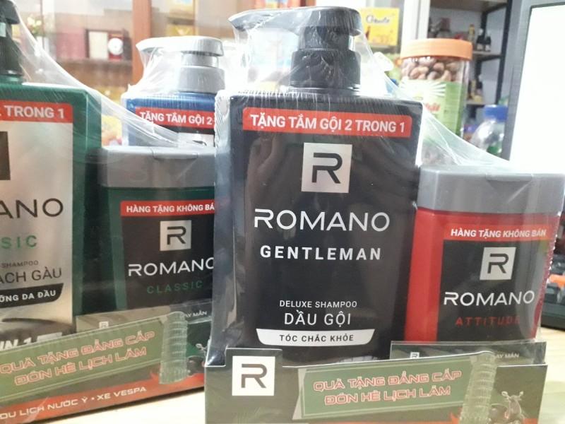 Dầu gội cho tóc chắc khỏe Romano Classic 650gr & tắm gội 2in1 Romano Classic 150gr