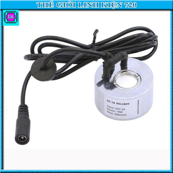 Bảng giá Combo động cơ phun sương GT-18 không led, tạo hơi nước, công suất cao và adapter 24V-2A