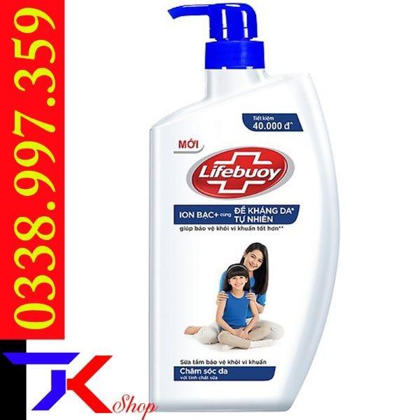 Sữa tắm bảo vệ khỏi vi khuẩn Lifebuoy 833ml đỏ&xanh