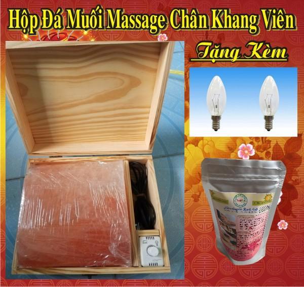 Hộp Đá Muối Himalaya Massage Loại  Mặt cong (Tặng Bóng đèn - Muối Tắm) tốt nhất