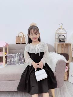 Váy Đầm Xoè Tay Voan Xinh Xắn Cho Bé Gái Size Đại 20-33kg thumbnail