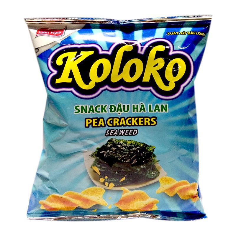 Snack Koloko đậu Hà Lan vị rong biển gói 57g