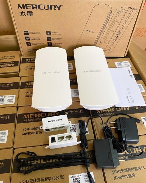 Bảng giá Bộ thu phát không dây cho camera IP, Bộ phát wifi ngoài trời đến 5Km - Mercury MWB505 Phong Vũ