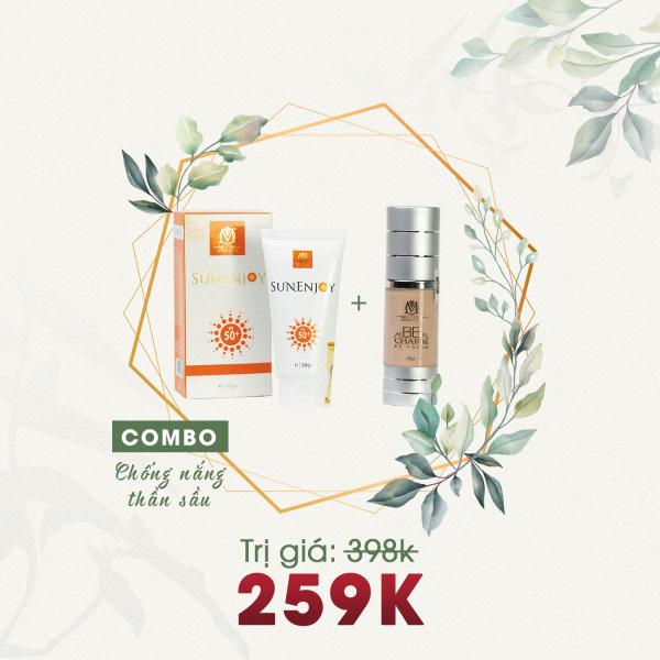 Combo Chống Nắng Thần Sầu Mely One - BB Cream BB CHARM & Kem Chống Nắng SUNENJOY giá rẻ