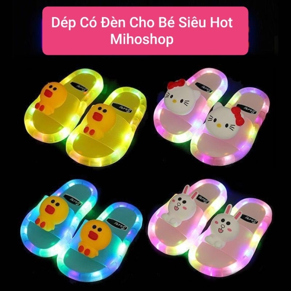 Giá bán Dép Có Đèn Hình Thú Cực Hot Cho Bé Mihoshop