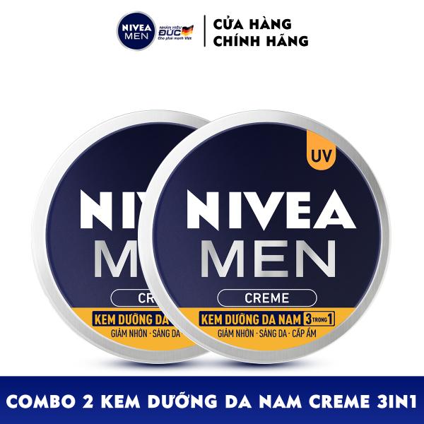 Bộ đôi Kem Dưỡng Da Nam NIVEA MEN Creme 3in1 Giúp Giảm Nhờn, Sáng Da, Cấp Ẩm (30ml) - 83923
