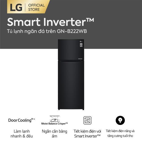 Tủ lạnh LG Smart Inverter ngăn đá trên GN-B222WB 209L (Đen) - Hãng phân phối chính thức
