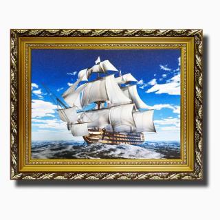 Tranh treo tường - Thuận buồm xuôi gió 19 - Tranh Minh Hiền (KHUNG GỖ - 50 x 60cm) thumbnail