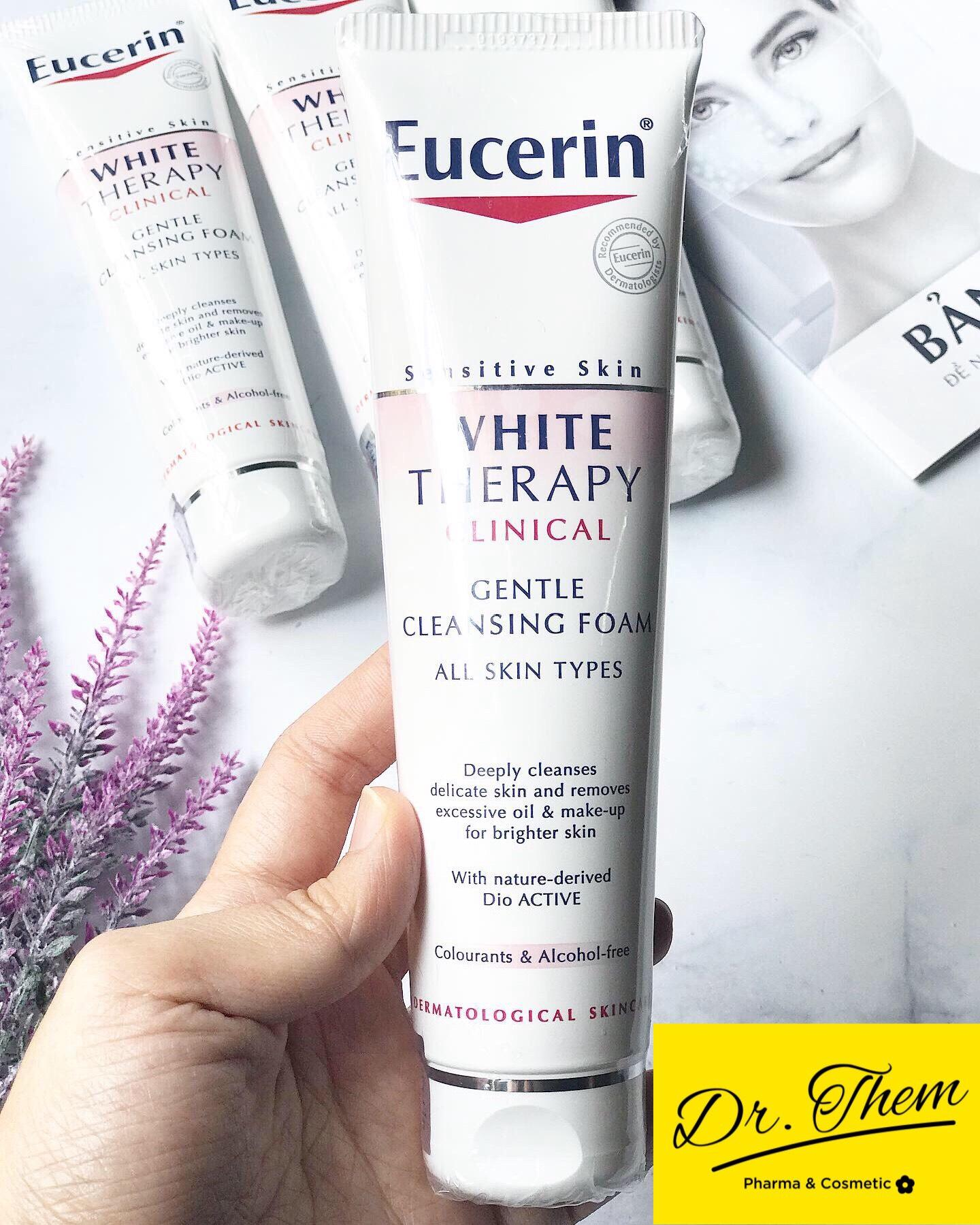 Sữa Rửa Mặt Trắng Sáng Da Eucerin WHITE THERAPY Clinical Gentle Cleansing Foam 150ml