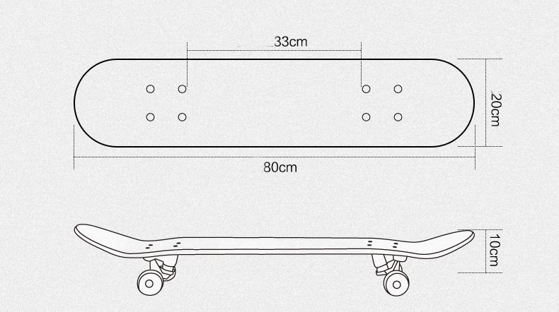 Ván trượt skateboard thể thao chất liệu gỗ phong ép cao cấp 8 lớp mặt nhám - 2