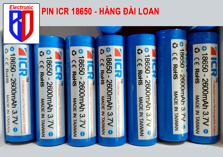 Offer Ưu Đãi Pin ICR 18650 Sạc 3.9v 2600mah   Dòng Xả Cao  Hoàn Toàn Mới